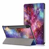 Étui pour tablette d'impression en trois volets pour Samsung Tab S7 SM-T870 T875 - Version Galactics