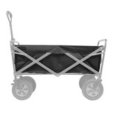 IPREE® Heavy-Duty Polyester Garden Utility Wagon Cart Liner Garden Black Trolley Cart Inner Storage Pocket For Garden Utility Wagon Cart