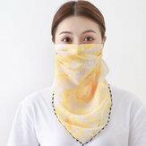 Écharpe solaire Masque facial d'équitation respirant extérieur Masque de cou d'impression à séchage rapide d'été