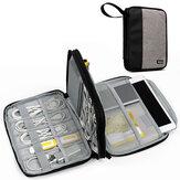 BOONA Travel Portátil de camada dupla Cartão de memória do telefone móvel U Disk USB Cable Acessórios digitais Organizador impermeável Armazenamento Bolsa Bolsa para iPad Mini / Air