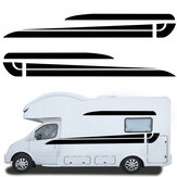 2PCS Side Body Stickers Graphic Stripe Decals For Camper Van Motorhome RV Caravan