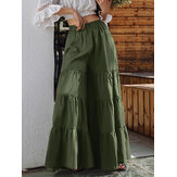 Frauen Flare Swing Wide Leg Pants Lässiger Culottes Rock mit hoher Taille