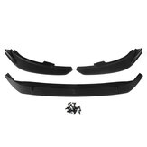3PCS Matte Black Bumper Bumper Lip Spoiler Cover Trim Para Ford Focus 2019