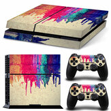 Play Station 4 Konsol 2 Denetleyicisi için Sony için PS4 Vinyl Decal Skin Sticker Seti