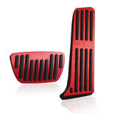 2Pcs Aluminium Alloy Car Interior Brake Accelerator Pedal Cover Trim Pad Red for Toyota Camry 8th 2018