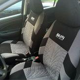 Assento duplo Carro de Tecido Completo Surround Assento Da Frente Capa Almofada Protector Cadeira Pad Universal Preto e Cinza
