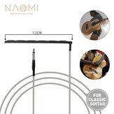 NAOMI 10pcs Guitar Saddle Piezo Pickup Silver Trançado Fio Soft Piezo para uso de guitarra clássica