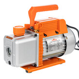 Topshak TS-VP1 1/4 HP Vacuum Pump 220V 2.5 CFM/ 110V 3.0 CFM Air Conditioner Refrigerant Air Tool With Direct Drive Motor Oil Viewing Windows Built-in Cooling Fan Shock Absorption Base Oil Drain Valve Vacuum Pump