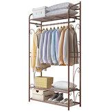 Cabide de aço inoxidável de 4 camadas Prateleira de sapatos Estante multifuncional de roupas Prateleira de roupas suspensa Prateleira de roupas Móveis de escritório doméstico