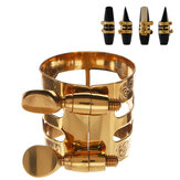 1Pc Gold Plaated Alto Saxofone Saxofone Ligature Clip