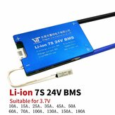7S 24V Lithium Battery 3.7V Power Protection Board 10A -180A with Temperature Protection Equalization Function Overcurrent Protection BMS Battery Protection Board