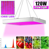 120W 1365LED Grow Light Red & Blue Square Lâmpada de crescimento para Veg Indoor Planta AC85V-265V
