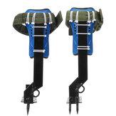 Boomsteelspijkerset Veiligheidsgordel W / Uitrusting Verstelbaar Lanyard Roestvrijstalen klimgereedschap