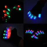 7 Mode LED Éclairage à doigts Clignotant Glow Mitaines Gants Rave Light Festive Event Party Supplies