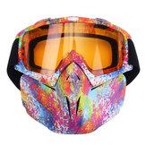 5 Colorful Len Flexível Óculos de Proteção Óculos Rosto Máscara Motocicleta Equitação ATV Dirt Bike Segurança