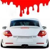 Pegatinas de gota de sangre roja divertida calcomanía de vinilo para Coche motor cola luz ventana parachoques decoración