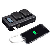 Palo FW50-C USB Rechargeable Battery Charger Mobile Phone Power Bank for Sony NP-FW50 DSLR Camera Battery with LED Indicator