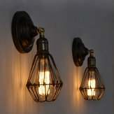 Retro Industrial Vintage Cage E27 Kinkiet Indoor Bar Ceiling Light