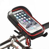 WHEEL UP Rainproof Bike Handlebar Touchscreen Phone Bag Case Support pour téléphone portable MTB Frame Pouch Bag