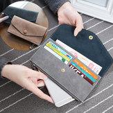 Women Multi Card Zippered PU Wallet Bag Purse For 5.5-inch Smartphone