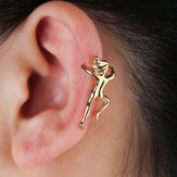 Funny Figure Gymnast Human Shape No Piercing Ear Clip