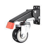 Heavy Duty 660 LBS Workbench Casters Kit Retractable Caster Wheels for Workbenches Machinery and Tables