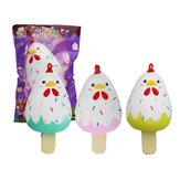Sanqi Elan Chick Popsicle Ice-lolly Squishy 12 * 6CM con licenza lenta aumento Soft giocattolo con imballaggio