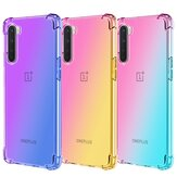 Bakeey for OnePlus Nord Caso Gradient Color with Four-Corner Airbags À prova de choque Translúcido Soft TPU Protetor Caso