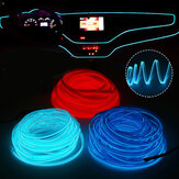 DC12V LED Car Interior Atmosphere Glow EL Wire Neon Strip Light Rope Tube Lamp