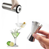 Drink Maatregel Cup Cocktailshaker Jigger Single Double Shot Kort Roestvrij Staal Spirit Party Wine Cup