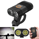 XANES DL09 1000LM 2 x XPE LED 5 Modes Smart Power Indicator 1800mAh Rechargable 150° Wide Angle IPX6 Waterproof Bike Light