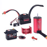 SURPASS HOBBY KK 3665 Brushless Motor 2900KV & 80A Brushless ESC 9KG Metal Gear رقمي Servo RC قطع غيار السيارات