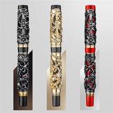 Jinhao 0.5mm Uç Çeşmesi Kalem Ejderha Kaligrafi İş Hediye İmza Yazma Mürekkebi Kalems Ofis Kırtasiye Malzemeleri