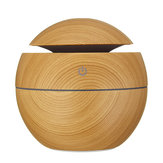 LED Colorful USB Intelligent Wood Grain Humidifier Ultrasonic Air Humidifier Aroma Essential Oil Diffuser