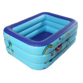130×95×50CM Inflatable Swimming Pool Square Kids Children's Home Use Paddling Pool Portable Foldable Bathing Tub