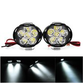 2PCS 9-85V 1000lm 10W Motocicleta Spotlight Motor Bike Headlamp Bicycle Scooter ATV Headlight