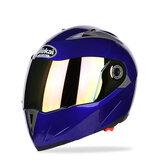 JIEKAI JK105 Motosiklet Kask Çift Kaplama Lens Elektrikli Bisiklet Erkekler Anti-Sis Tüm Mevsim Kaskları Ile Açık Başlığı Çevirin