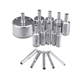 15Pcs 5-50mm Diamond Hole Saw Drill Bit Set Piastrelle in vetro ceramico Punte da trapano in marmo