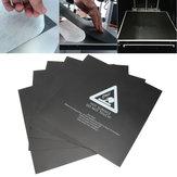 5 PCS 300 * 300mm Camada quente de superfície de esfrega quadrada preta Varanda Folha com adesivo para peça de impressora 3D