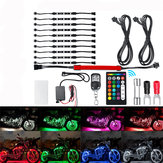 15 Color LED Dual Remote Control Motorcycle Car Atmosphere Lamp Style Decoration Lights Kit