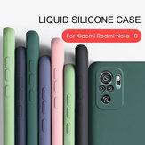 Bakeey dla Xiaomi Redmi Note 10/Redmi Note 10S Case Gładka, odporna na wstrząsy z osłoną obiektywu Soft Etui ochronne z płynnej gumy silikonowej nieoryginalne