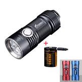 Fitorch P25 4x XPG3 3000LM Güçlü EDC LED El Feneri Seti 26350 USB Şarj Li-ion Batarya IPX8 Su Geçirmez Mini Torç ile