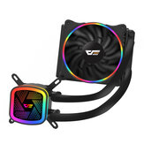 DarkFlash DT120 Water Cooling Fan Ice Tower Water Cooler with RGB 120mm 4Pin PWM CPU Cooling for Inetel AMD CPU