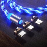 Suntaiho Magnetische Datakabel Micro USB Type C Flow Lichtgevende Verlichting Datakabel Voor Huawei P30 P40 Pro MI10 Note 9 S