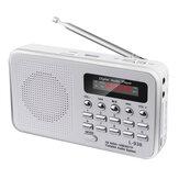 5V genopladelig bærbar LCD digital FM-radio USB SD TF Mp3-højttaler musikafspiller