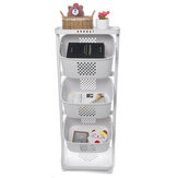 2/3 Layers Kitchen Storage Rack Vegetable Basket Movable with Wheels Floor Multi-layer Daquan Toys Storage Shelves Household Supplies