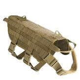 Hunting Military Tactical Patrol Dog VesT Training Harness Law Enforcement Airsoftsports Gear
