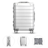 90FUN 20inch Travel Koffer 31L Aluminiumlegierung TSA Lock Spinner Wheel Carry On Gepäck Gehäuse von