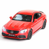 1:32 Alloy BENZS C63S AMG 4 Door Openable Pull Back Diecast Car Model Toy with Sound Light for Collection Gift