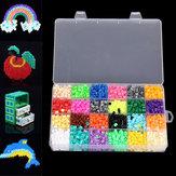 2400 chiếc Hama Perler Hạt 5mm 24 Màu sắc Trẻ em Trẻ em DIY Craft Giáo dục